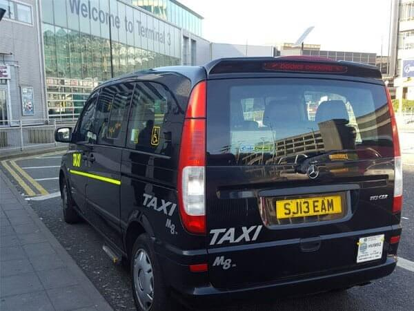 6 Seater Taxi outside Manchester Airport