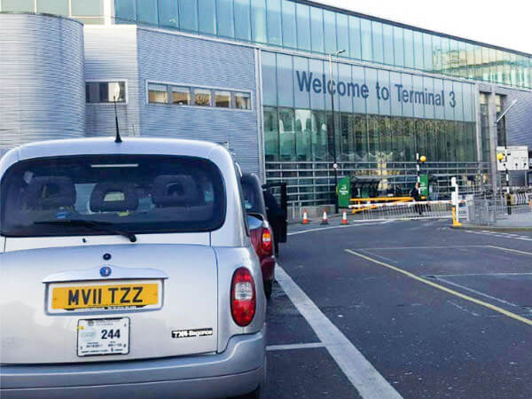 London Style taxi at Manchester Airport